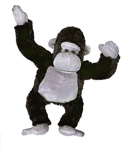Stuffems Toy Shop Record Your Own Plush 16 inch Black & Grey Gorilla - Ready 2 Love in 2 Minutes