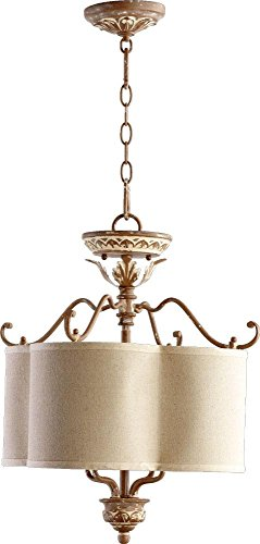 Quorum Lighting 2706-18-94, Salento Large Drum Pendant, 4 Light, 80 Total Watts, French Umber