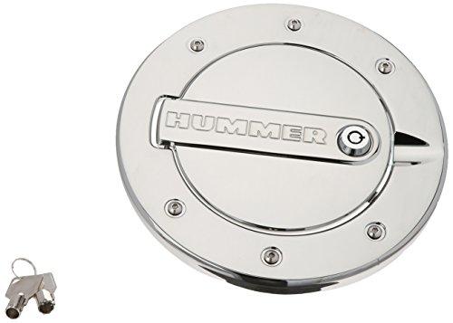 DefenderWorx H3PPC08060 Chrome Locking Fuel Door for Hummer H3 - Chrome Hummer Billet