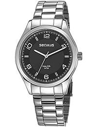 Relógio Seculus Masculino Ref: 28975g0svna1 Casual Prateado