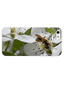 3d Full Wrap Case for iPhone 5/5s Animal Bee On A Pear Blossom41