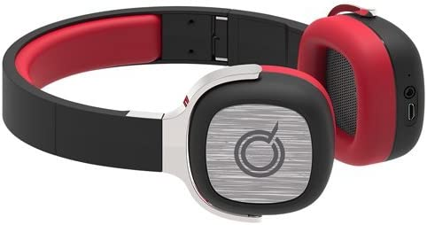 Quickcell APPLAUZ wireless stereo headphones with optional 3.5mm USB cable. Retail Packaging-Red