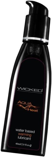 Wicked AQUA HEAT Warming Water Based Lubricant : 2 fl oz