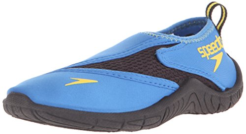Speedo Kids Surfwalker Pro 2.0 Water Shoes (Little Kid/Big Kid), Blue/Black, 4 US Big Kid