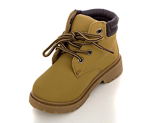 Charles Loafers (Charles Albert Girl's Combat Hiking Work Boot In Wheat Size: 2)