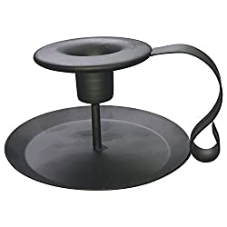 PRINTEMPS Wrought Iron Taper Candle Holder,Matte Black