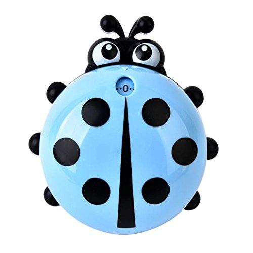 Bug Pancake Pan (DDLBiz Cute Ladybug Shaped Timer Kitchen 60 Minute Cooking Mechanical Home Decoration (Blue))