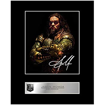 New Art Print of Autographed Photo 8 X 10 Jason Momoa As DC Comic/'s Aquaman