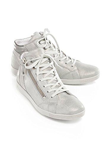Avena Damen Reißverschluss-Sneaker Shiny high Rot hszji