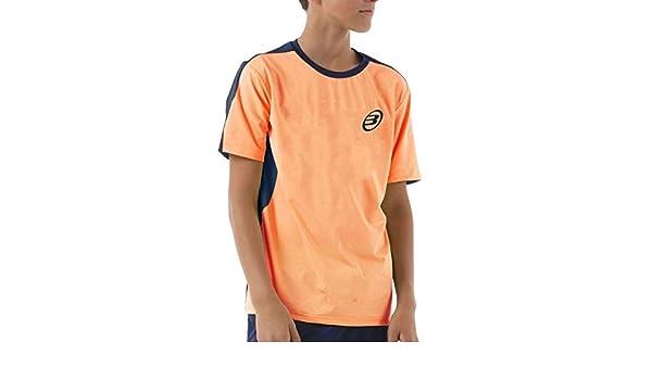 Bull padel Camiseta BULLPADEL IUNET Naranja Fluor NIÑO ...
