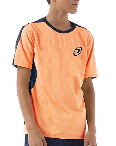 Bull padel Camiseta BULLPADEL IUNET Naranja Fluor NIÑO: Amazon.es ...