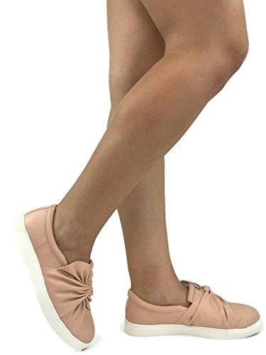 Soda Womens Slip On Sneakers - Closed Toe Blush Twist U2YKz2tL