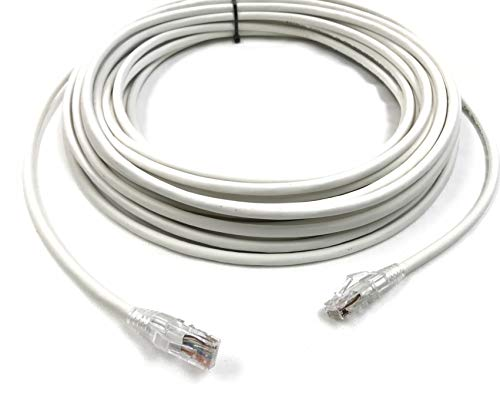 75 Foot Cat6 UTP Plenum CMP Rated Ethernet Patch Cable in Blue or White by Custom Cable Connection (75 Foot, White)
