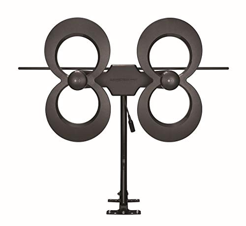 Antennas Direct ClearStream 4MAX TV Antenna, 70 Mile Range, Multi-directional, Indoor, Attic, Outdoor,  Mast with Pivoting Base, All Weather Mounting Hardware, 4K Ready, Black - C4MVJ (Renewed)