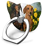 Cell Phone Holder Cute Dachshund Dogs in Flowers Cat Type Ring Cell Phone