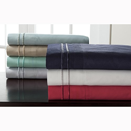 Elite Home Products Hotel Collection Double Merrow Sheet Set White 4 Piece Full