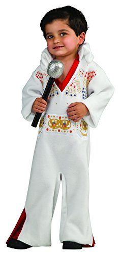Costume Baby Rock (Rubie's Costume Co Baby-boys Newborn Elvis Bunting Costume, White/Red,)