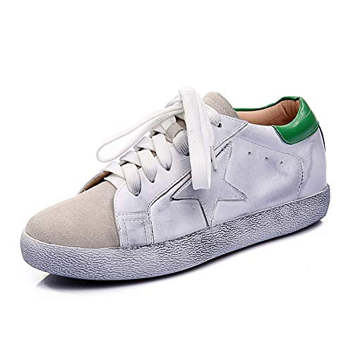 da verde Scarpe tacco Sneakers autunno Nappa piatto pelle donna nero Comfort in ZHZNVX Black 5UqfFx