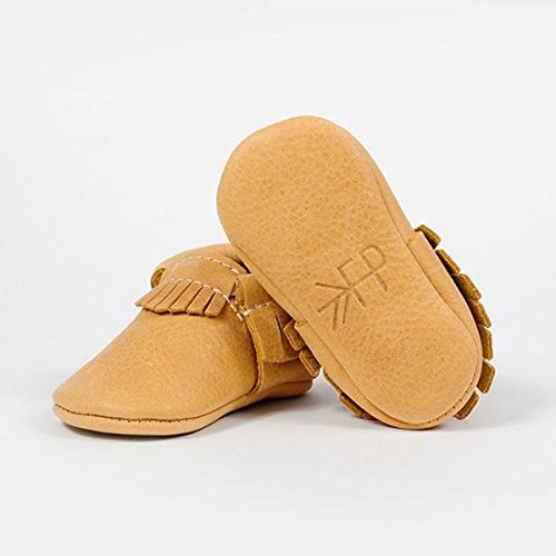 Freshly Picked Soft Sole Leather Baby Moccasins - Beehive State - Size 3