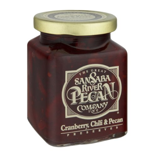 The Great San Saba River Pecan Company Cranberry Chili & Pecan Preserves 11 Ounce ()