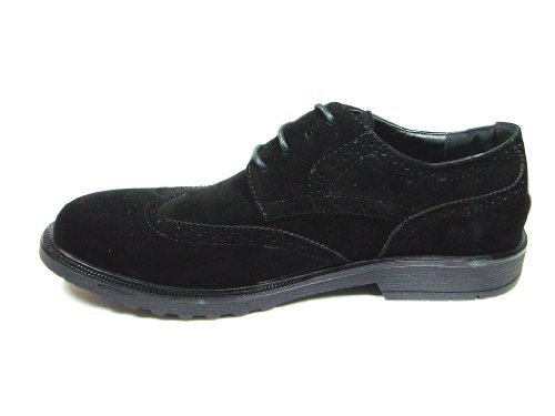 Hommes Dylan Aile Pointe Suedette Lace Up Oxford Robe Chaussures Noir