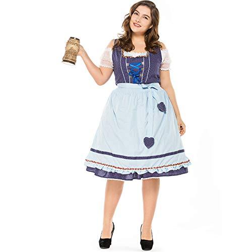 Female German Beer Festival Costume Halloween Adult Plus Size Oktoberfest Uniform Fancy Party Cosplay Dress -