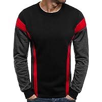 OZONEE Herren Sport Fitness Training Crewneck Täglichen Modern Sweatshirt Langarmshirt Pullover Warm Basic J. Style 2001-10