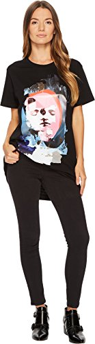 Versus Versace Women's Donna Jersey Stampato T-Shirt Black/Stampa (Versace Jersey T-shirt)