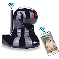 SOTION WiFi Internet Wireless Network IP Security Surveillance Video Camera System, Baby and Pet Monitor with Pan and Tilt, Two Way Audio & Night Vision