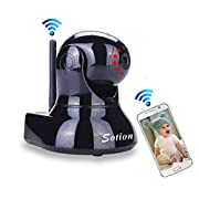 Sotion WiFi Internet Wireless Network IP Security Surveillance Video Camera System, Baby and Pet Monitor for Home/Indoor with Pan and Tilt, Two Way Audio & Night Vision