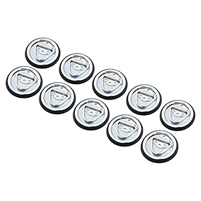 10 Surface Mount D Rope Ring 1/4 Inches Tie Down Truck Trailer Cargo Van 4 Inches Round: Automotive