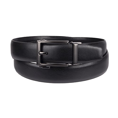 Dockers Men's 1.3 in. Wide Perfect Fit Adjustable Click To Fit Belt,black, X-Large (Black Dockers Belt)