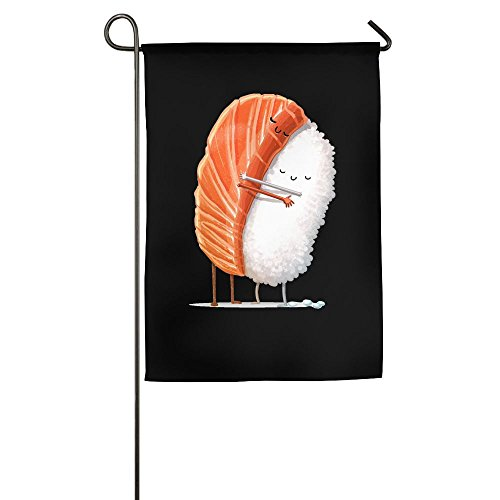 Banner Raglan (Womenâ€s A Intimate Hug Between Sushi Funny Toddler Raglan Shirts Fashion Garden Flag Indoor & Outdoor Decorative Flags For Parade Sports Game Family Party Wall Banner,1827inch)
