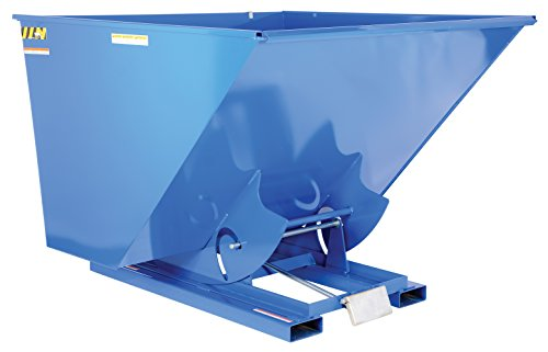 Vestil-D-250-LD-Light-Duty-Self-Dumping-Hopper-with-Bumper-Release-Steel-2000-lb-Capacity-Overall-W-x-L-x-H-in-69-x-68-38-x-51-34