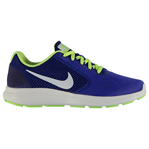Nike Revolution 3Laufschuhe Herren blau/weiß/Volt Fitness Trainer Sneakers