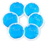 Round Hot & Cold Packs (6 Pack) - Heat or Ice Therapy - Small Flexible Reusable Gel Beads with Fabric Backing - Great for: Wisdom Teeth, Breastfeeding, Tired Eyes, Face, Headaches, Sinus Relief