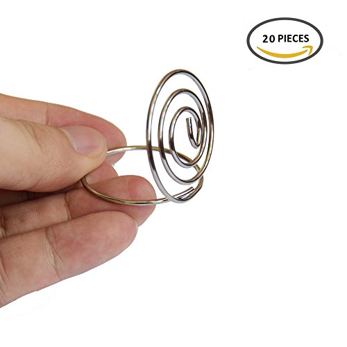 BERON 1.38 inch 'Ring Shape' Wedding Table Place Card Holder (20)