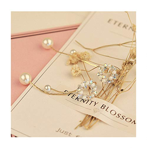 Womens NEW Elegant Rhinestone Crown Circle After Hanging Earrings Simulated Pearl Pendientes Drop Earrings colourful circle
