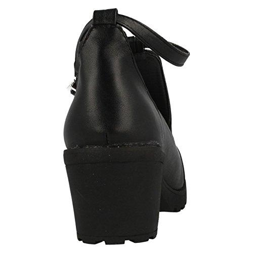 Junior Mädchen, rot Tag Schuhe Schwarz