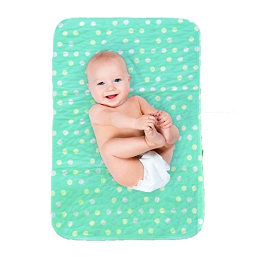 Infant Polka Dot Diapers - Lessy Messy Washable Diaper Changing Mat 20X30 Baby Polka Dot
