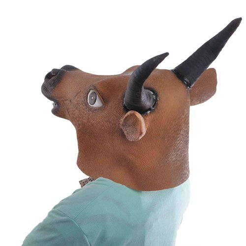 X-advanture Halloween Props Creepy Cow Tau Head Latex Mask Party Animal Bull Toy Prop Halloween Mask