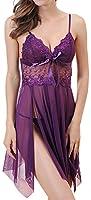 Queen.M Pretty Pajama Sexy Lingerie Sling Transparent Underwear for Sex Flirt