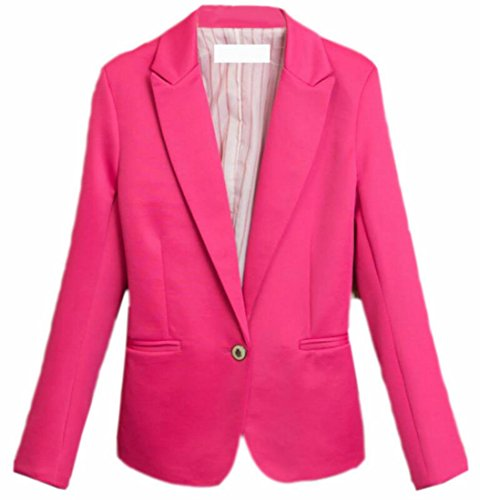 Casuale Vestito Outwear Colore Giacca Di Ttyllmao Donne Caramelle 3 Cappotto Del UqEZaY