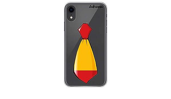 dakanna Funda para iPhone XR | Corbata Bandera España | Carcasa de ...