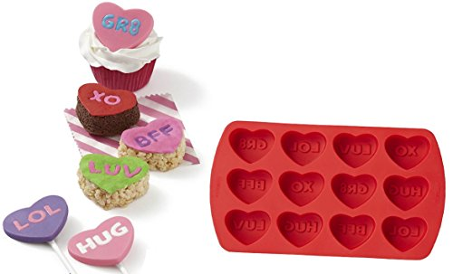 Wilton 12 Cavity Words Can Express Heart Silicone Mold