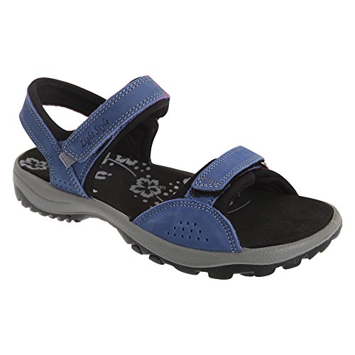 IMAC Womens/Ladies Nubuck Leather Two Touch Fastening Sports Sandals Navy nG0CcTNc