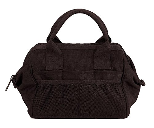 Rothco Heavyweight Canvas Platoon Tool Bag, Black (Adc Nylon Medical Bag)