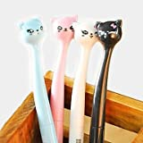 Cat Office Supplies Best Deals - BuW Japanese Style Cartoon Cat Head Gel Pen(Random Color) , cute creative Stationery and office supplies