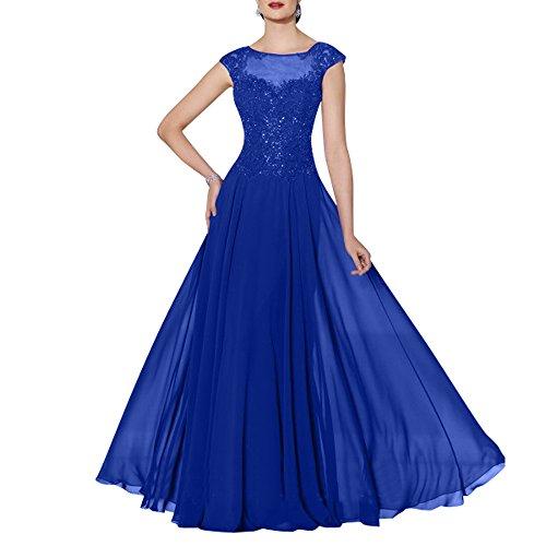 Spitze 2018 mia La Rock Royal Abendkleider Linie Kleider Lang Brautmutterkleider Braut Blau A Jugendweihe Neu Ballkleider qEIddgwp