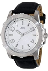 JBW Men's Diamond-Accented Leather Watch